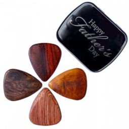Happy Father's Day Tin with 4 Acoustic Guitar Picks